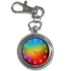 Blurred Color Pixels Key Chain Watches