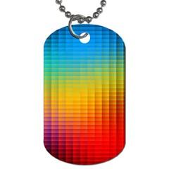 Blurred Color Pixels Dog Tag (One Side)