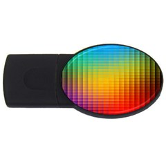 Blurred Color Pixels USB Flash Drive Oval (1 GB)