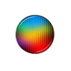 Blurred Color Pixels Hat Clip Ball Marker