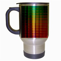 Blurred Color Pixels Travel Mug (silver Gray)