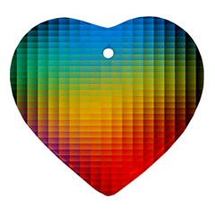 Blurred Color Pixels Heart Ornament (Two Sides)
