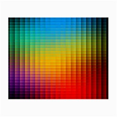 Blurred Color Pixels Small Glasses Cloth (2 Side)