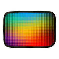 Blurred Color Pixels Netbook Case (medium)