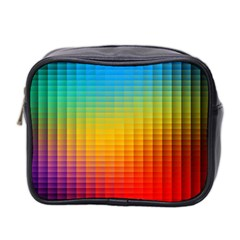 Blurred Color Pixels Mini Toiletries Bag 2-Side