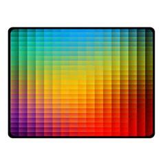 Blurred Color Pixels Fleece Blanket (small)