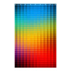 Blurred Color Pixels Shower Curtain 48  X 72  (small)