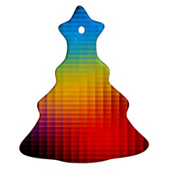 Blurred Color Pixels Ornament (Christmas Tree)