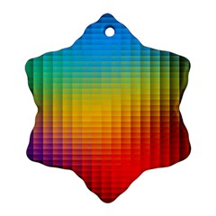 Blurred Color Pixels Snowflake Ornament (Two Sides)