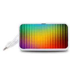 Blurred Color Pixels Portable Speaker (White)