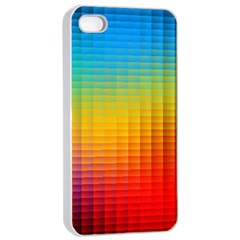 Blurred Color Pixels Apple Iphone 4/4s Seamless Case (white)