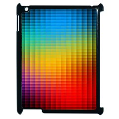 Blurred Color Pixels Apple Ipad 2 Case (black)