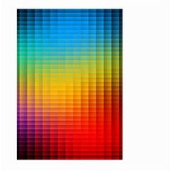 Blurred Color Pixels Large Garden Flag (two Sides)