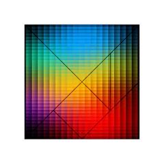 Blurred Color Pixels Acrylic Tangram Puzzle (4  X 4 )