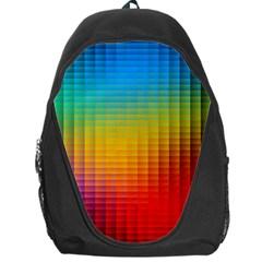 Blurred Color Pixels Backpack Bag