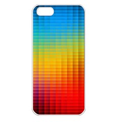 Blurred Color Pixels Apple Iphone 5 Seamless Case (white)