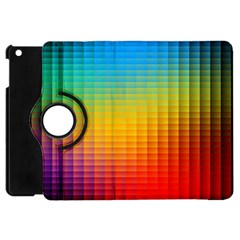 Blurred Color Pixels Apple Ipad Mini Flip 360 Case