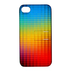 Blurred Color Pixels Apple iPhone 4/4S Hardshell Case with Stand