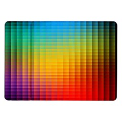 Blurred Color Pixels Samsung Galaxy Tab 10 1  P7500 Flip Case