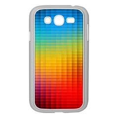 Blurred Color Pixels Samsung Galaxy Grand DUOS I9082 Case (White)