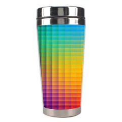 Blurred Color Pixels Stainless Steel Travel Tumblers