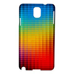 Blurred Color Pixels Samsung Galaxy Note 3 N9005 Hardshell Case