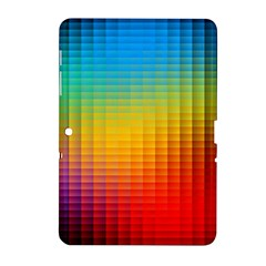 Blurred Color Pixels Samsung Galaxy Tab 2 (10.1 ) P5100 Hardshell Case