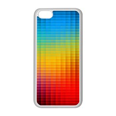 Blurred Color Pixels Apple Iphone 5c Seamless Case (white)