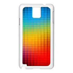 Blurred Color Pixels Samsung Galaxy Note 3 N9005 Case (White)