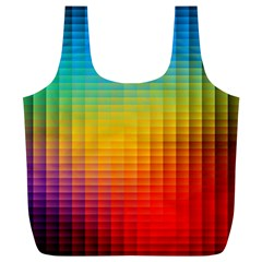 Blurred Color Pixels Full Print Recycle Bags (L)