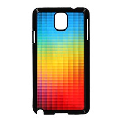Blurred Color Pixels Samsung Galaxy Note 3 Neo Hardshell Case (Black)