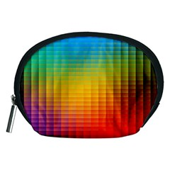 Blurred Color Pixels Accessory Pouches (medium)