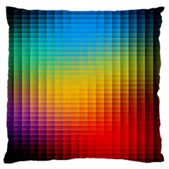 Blurred Color Pixels Large Flano Cushion Case (two Sides)