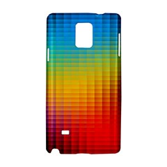 Blurred Color Pixels Samsung Galaxy Note 4 Hardshell Case
