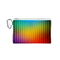 Blurred Color Pixels Canvas Cosmetic Bag (S)