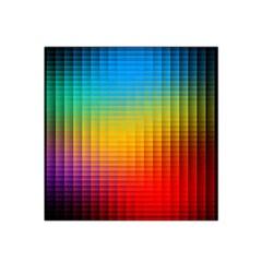 Blurred Color Pixels Satin Bandana Scarf