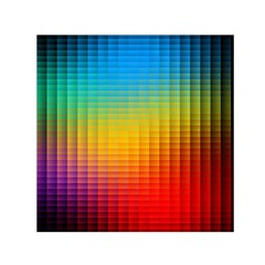 Blurred Color Pixels Small Satin Scarf (Square)