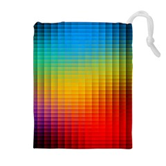 Blurred Color Pixels Drawstring Pouches (extra Large)