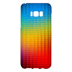 Blurred Color Pixels Samsung Galaxy S8 Plus Hardshell Case