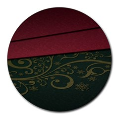 Beautiful Floral Textured Round Mousepads