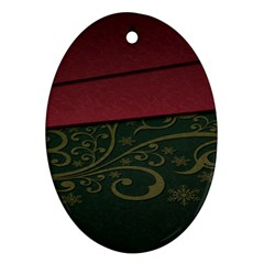 Beautiful Floral Textured Ornament (Oval)