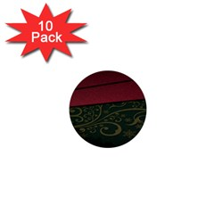 Beautiful Floral Textured 1  Mini Buttons (10 Pack)
