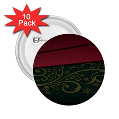 Beautiful Floral Textured 2.25  Buttons (10 pack)