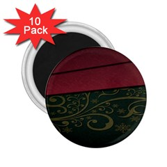 Beautiful Floral Textured 2 25  Magnets (10 Pack)