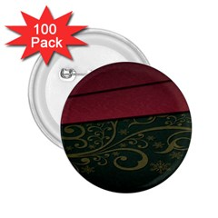 Beautiful Floral Textured 2 25  Buttons (100 Pack)
