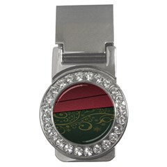 Beautiful Floral Textured Money Clips (CZ)