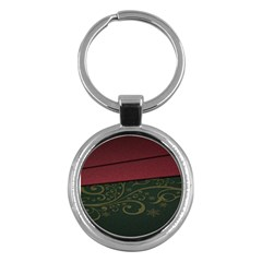 Beautiful Floral Textured Key Chains (Round)