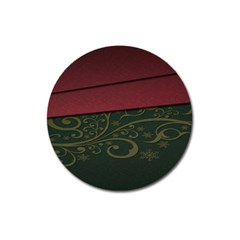 Beautiful Floral Textured Magnet 3  (Round)