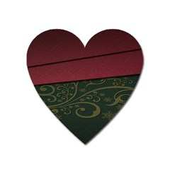 Beautiful Floral Textured Heart Magnet