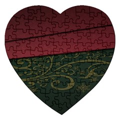 Beautiful Floral Textured Jigsaw Puzzle (Heart)